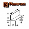Plastruct L Section 1.20mm AFS1 250mm Long 10 Pack 90501
