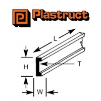 Plastruct Channel Section 3.20mm CFS4 390mm Long 8 Pack 90533