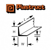 Plastruct L Section 1.60mm AFS2 250mm Long 10 Pack 90502