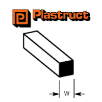 Plastruct Square MS40 1.00mm x 250mm 10 Pack 90740
