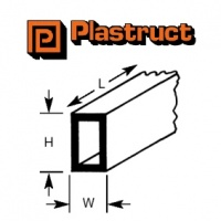 Plastruct Rect Tube 9.5mm x 6.4mm RTFS12 4 Pack 90633