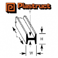 Plastruct H Column Section 6.40mm HFS8 5 Pack 90546