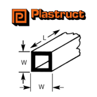 Plastruct Square Tube 9.50mm STFST12 5 Pack 90625