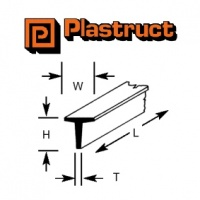 Plastruct T Section 2.40mm TFS3 8 Pack 90563