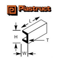 Plastruct U Section 2.4mm UFS3 Pack 10 90582